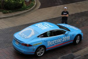The Bernie car that traveled the country.