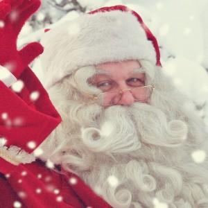 Santa with Fake Snow