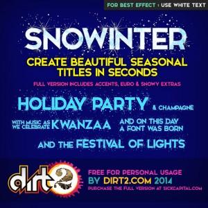 snow winter christmas font - Snowinter